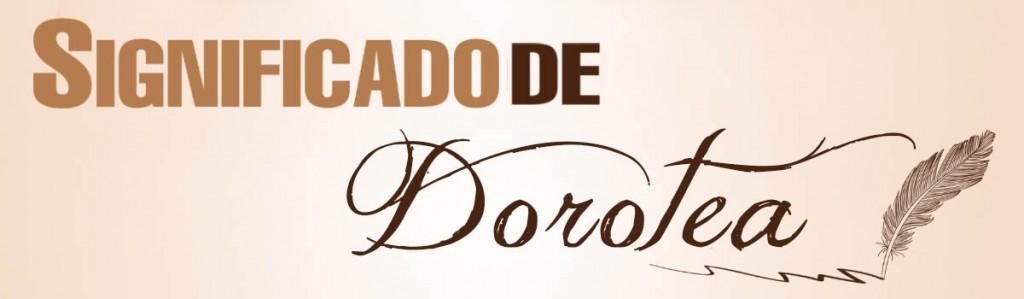Significado de Dorotea