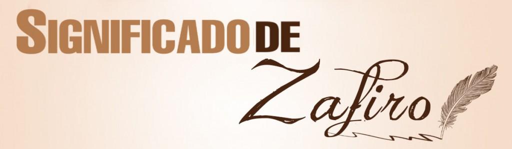 Significado de Zafiro