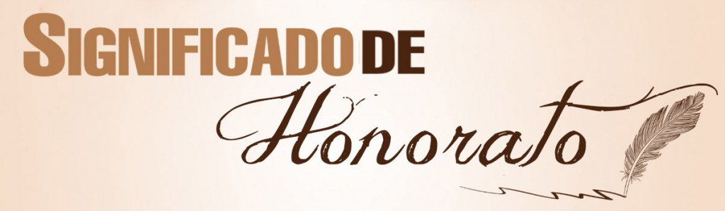 Significado de Honorato