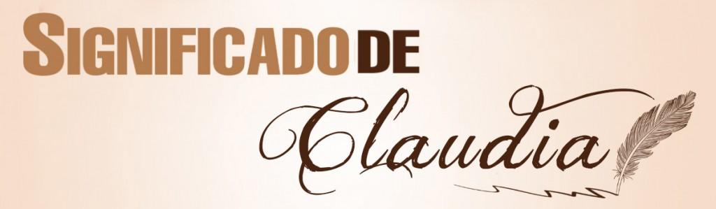 Significado de Claudia