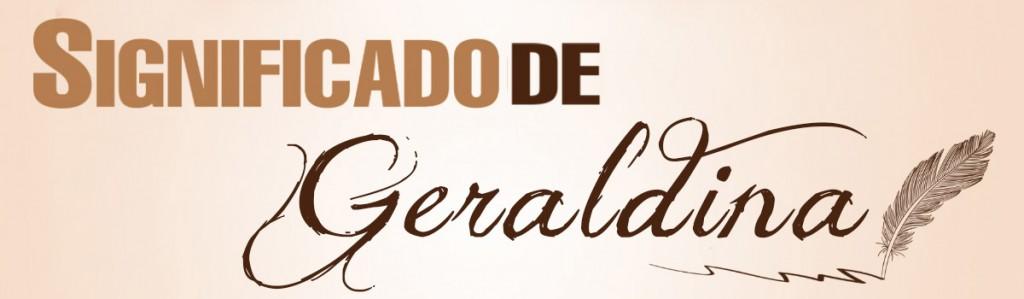Significado de Geraldina
