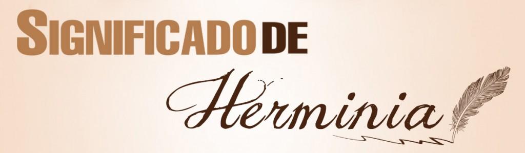 Significado de Herminia