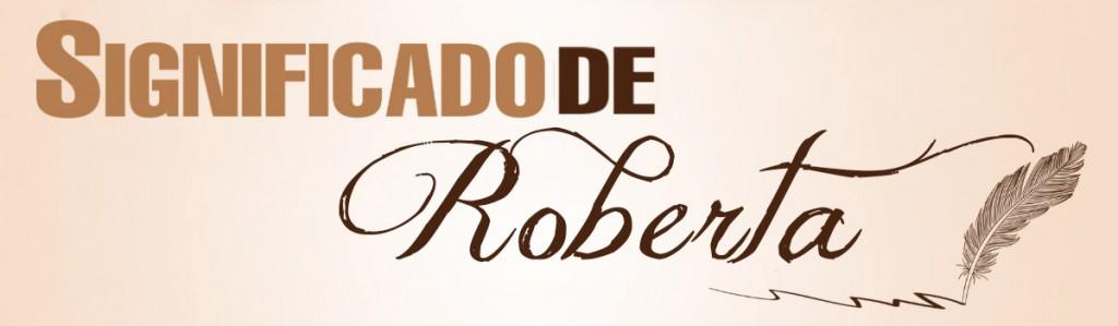 Significado de Roberta